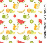 seamless pattern with fruits | Shutterstock .eps vector #641706874