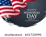 memorial day. remember and... | Shutterstock .eps vector #641710990