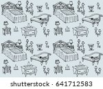 seamless texture   a sketch of... | Shutterstock . vector #641712583