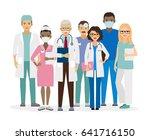 medical team. group of hospital ...   Shutterstock . vector #641716150