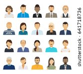 business people flat avatars.... | Shutterstock . vector #641718736