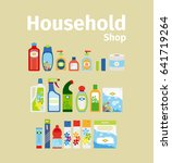 household goods shop icon set.... | Shutterstock . vector #641719264