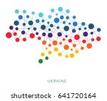dotted texture ukraine without... | Shutterstock .eps vector #641720164