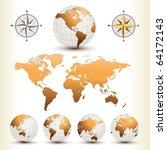 Earth Globes With Detailed...