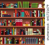 book shelves seamless pattern... | Shutterstock .eps vector #641721679