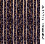 peacock feather luxury... | Shutterstock .eps vector #641721784