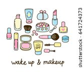cute cosmetic set for your... | Shutterstock .eps vector #641724373
