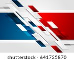 bright red and blue contrast... | Shutterstock .eps vector #641725870