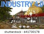 the industry 4.0 energy solar... | Shutterstock . vector #641730178