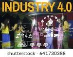 4.0 solar energy industry... | Shutterstock . vector #641730388