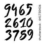 vector set of calligraphic... | Shutterstock .eps vector #641730436