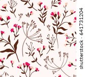 seamless cute floral vector... | Shutterstock .eps vector #641731204
