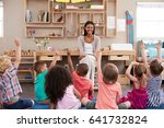 pupils at montessori school... | Shutterstock . vector #641732824