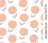 vector seamless pattern with... | Shutterstock .eps vector #641734774