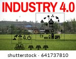 the solar energy industry 4.0... | Shutterstock . vector #641737810