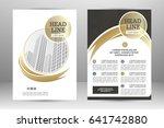 vector flyer template layout... | Shutterstock .eps vector #641742880