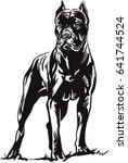 dog cane corso | Shutterstock .eps vector #641744524
