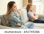 quarrelled mother and daughter... | Shutterstock . vector #641745286