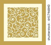laser cut template pattern for... | Shutterstock .eps vector #641746840