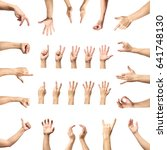 male hand gesture and sign... | Shutterstock . vector #641748130