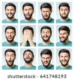 set of handsome emotional man...   Shutterstock . vector #641748193
