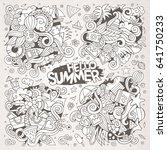 line art vector hand drawn... | Shutterstock .eps vector #641750233