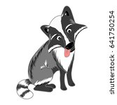 racoon dog nyctereutes... | Shutterstock .eps vector #641750254
