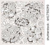 sketchy vector hand drawn... | Shutterstock .eps vector #641750293