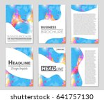 abstract vector layout... | Shutterstock .eps vector #641757130