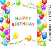 card with lettering happy... | Shutterstock .eps vector #641757430