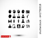 business man icons  vector best ... | Shutterstock .eps vector #641758318