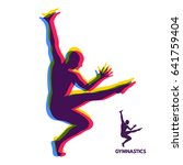 gymnast. silhouette of a dancer....   Shutterstock .eps vector #641759404