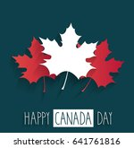 happy canada day poster on blue ... | Shutterstock .eps vector #641761816