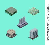 isometric urban set of... | Shutterstock .eps vector #641763388