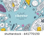 cheese collection top view... | Shutterstock .eps vector #641770150