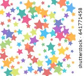 background of stars confetti.... | Shutterstock .eps vector #641771458