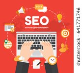 seo. search engine optimation....   Shutterstock .eps vector #641771746