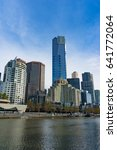 melbourne cityscape with yarra... | Shutterstock . vector #641772064