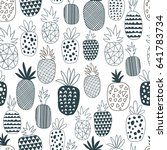 coloring book. vector seamless... | Shutterstock .eps vector #641783734