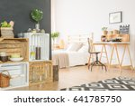 wooden crates with accessories... | Shutterstock . vector #641785750