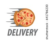 pizza logo on white background. | Shutterstock .eps vector #641786230
