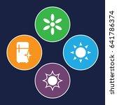 shine icons set. set of 4 shine ... | Shutterstock .eps vector #641786374