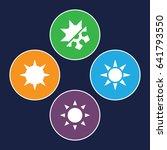 Sunny Icons Set. Set Of 4 Sunn...