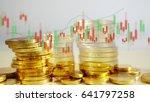 money coins with stock exchange ...   Shutterstock . vector #641797258