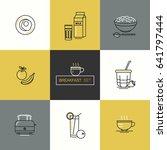 breakfast   set of vector icons ...   Shutterstock .eps vector #641797444