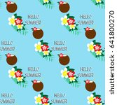 seamless pattern with tropic... | Shutterstock .eps vector #641800270