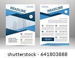 vector flyer template layout... | Shutterstock .eps vector #641803888