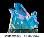 amazing colorful quartz rainbow ... | Shutterstock . vector #641806069