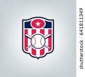 vector of baseball sport team... | Shutterstock .eps vector #641811349