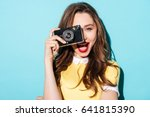 close up portrait of a smiling... | Shutterstock . vector #641815390